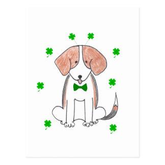 Carte Postale Jour de Patricks de saint de beagle
