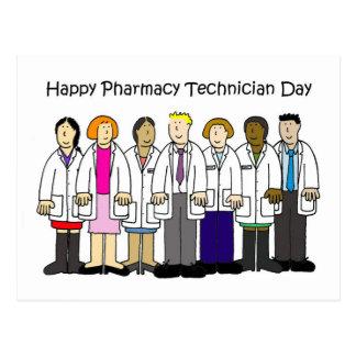 Carte Postale Jour de technicien de pharmacie