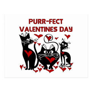 Carte Postale Jour de Valentines de Ronronnement-fect