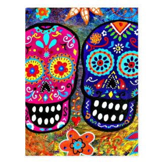 Carte Postale Jour des têtes mortes de crâne
