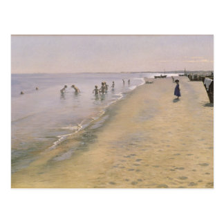 Carte Postale Jour d'été à la plage du sud de Skagen, 1884
