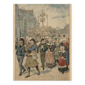 Carte Postale Jour du mariage chez Plougastel la Bretagne