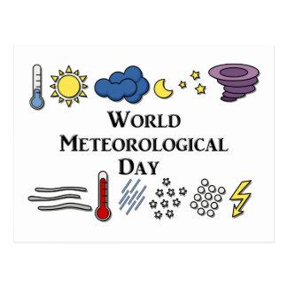 Carte Postale Jour météorologique du monde
