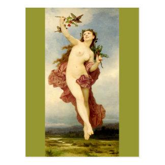 Carte Postale Jour par Bouguereau