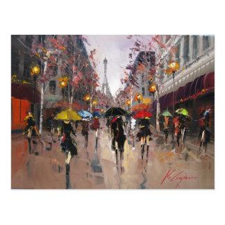 Carte Postale Jour pluvieux à Paris