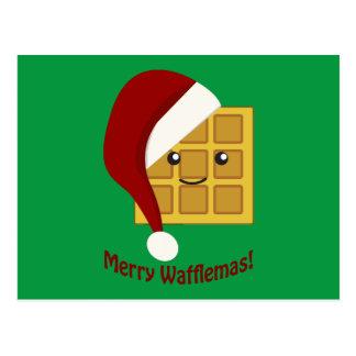 Carte Postale Joyeuse gaufre de Noël de Wafflemas