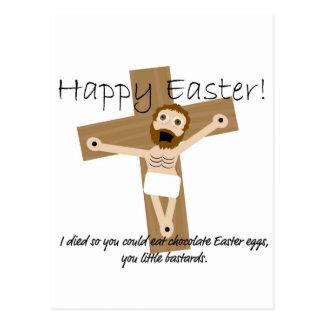 Carte Postale Joyeuses Pâques de Jésus fâché