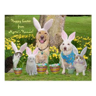 Carte Postale Joyeuses Pâques de l'humain de Myrtie !