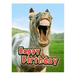 carte anniversaire cheval humour