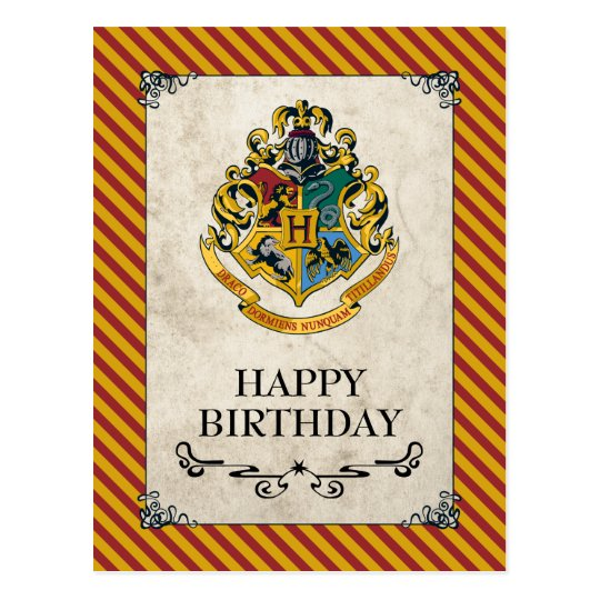 carte postale joyeux anniversaire de harry potter hogwarts. Black Bedroom Furniture Sets. Home Design Ideas