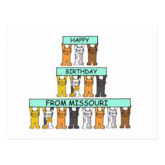 Carte Postale Joyeux anniversaire du Missouri