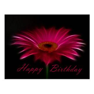 Carte Postale Joyeux anniversaire - Gerber rose