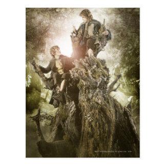 Carte Postale Joyeux et Peregrin sur Treebeard