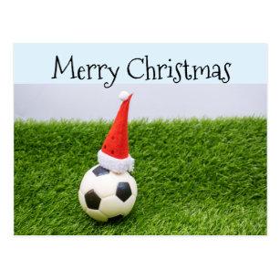 Cartes Postales Noel Football Originales Zazzle Fr