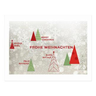 Carte Postale Joyeux Noël autour du monde