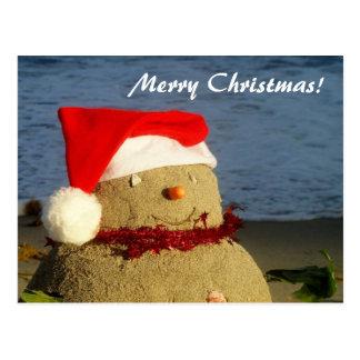 Carte Postale Joyeux Noël ! bonhomme de neige de sandman/