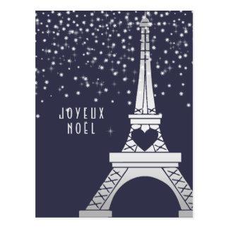 Carte Postale Joyeux Noël de Joyeux Noel | de Paris en hiver