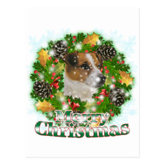 Carte Postale Joyeux Noël Jack Russell