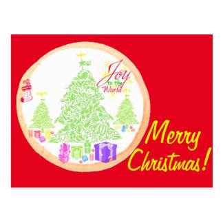 Carte Postale Joyeux Noël !  Joie au biscuit du monde