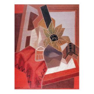 Carte Postale Juan Gris - fleurs sur la table