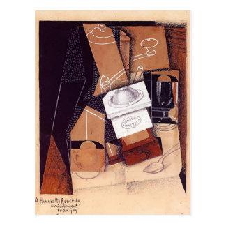 Carte Postale Juan Gris- la broyeur de café