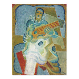 Carte Postale Juan Gris - Pierrot jouant la guitare