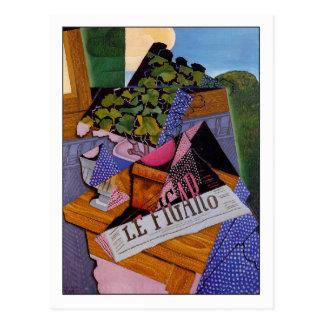 """Carte Postale Juan Gris """"un pot de géraniums """""""
