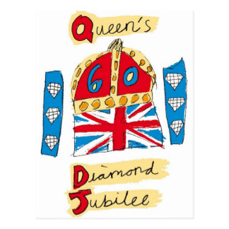 Carte Postale jubilé de diamant de reine Elizabeth 2012