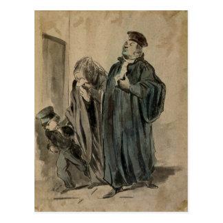Carte Postale Juge, femme et enfant