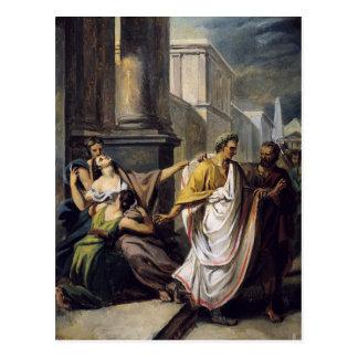 Carte Postale Jules César sur son chemin au sénat