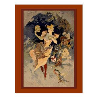 "Carte Postale Jules Cheret ""La Danse"" 1891"