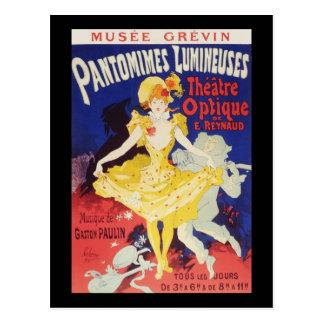 Carte Postale Jules Cheret Pantomimes Lumineuses