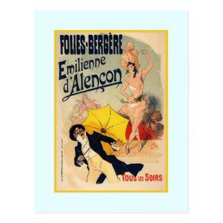 Carte Postale Jules Chéret, publicité, 1890