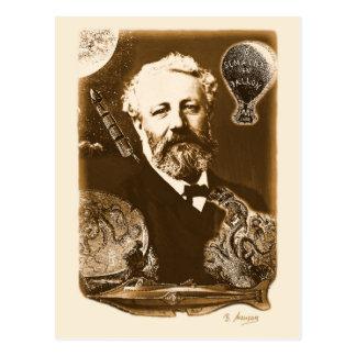 Carte Postale Jules Verne hommages