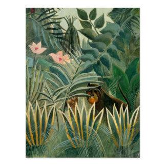 Carte Postale Jungle équatoriale, 1909 (huile sur la toile)