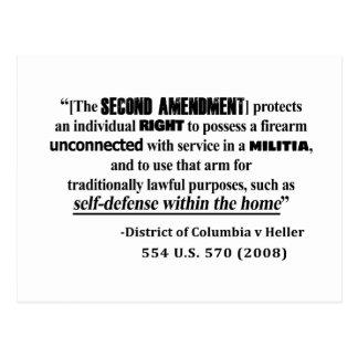 Carte Postale Jurisprudence d'amendement de dc v Heller en