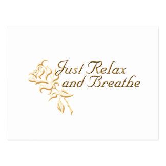 Carte Postale Juste détendez et respirez