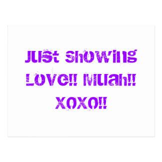 Carte Postale Juste représentation de l'amour ! ! Muah ! ! XOXO