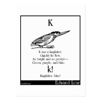 Carte Postale K était un martin-pêcheur