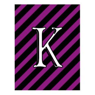 Carte Postale K initial