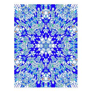 Carte Postale Kaléidoscope bleu