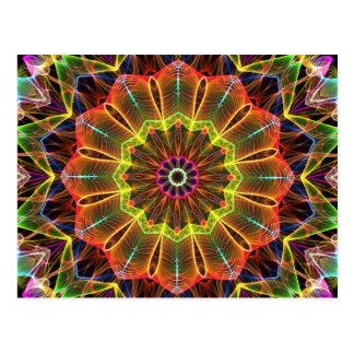 Carte Postale Kaléidoscope orange de Starflower