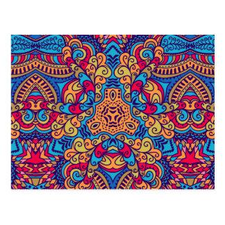Carte Postale Kaléidoscope rêveur indien