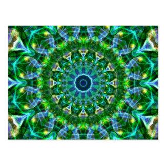Carte Postale Kaléidoscope vert de ressort
