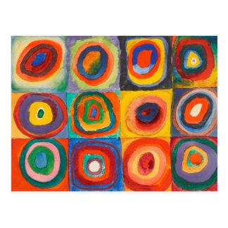 Carte Postale Kandinsky ajuste les cercles concentriques