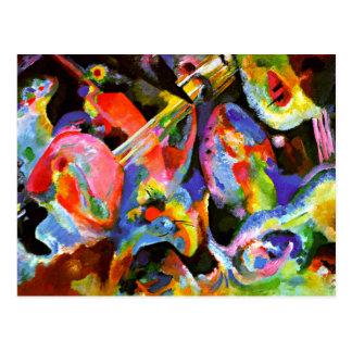 Carte Postale Kandinsky - déluge d'improvisation