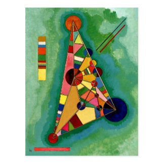 Carte Postale Kandinsky - triangle multicolore