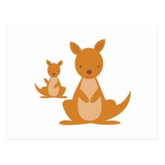 Carte Postale Kangourous
