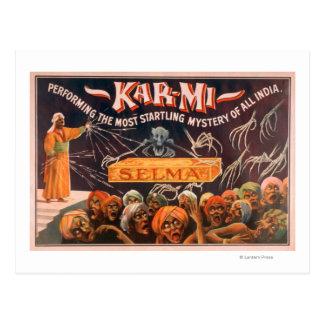 """Carte Postale Kar-MI """"le mystère le plus effrayant de la toute"""