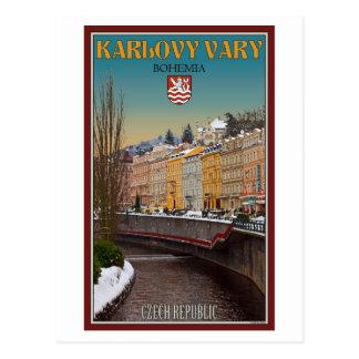 Carte Postale Karlovy Vary - hiver de rivière de Semnice